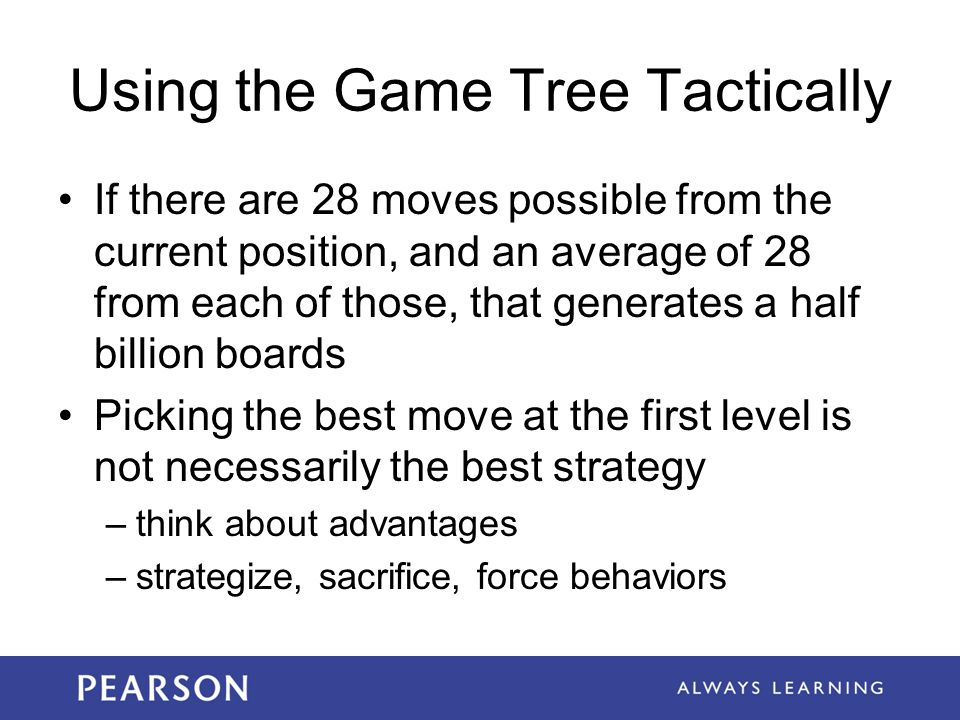 Using the Game Tree Tactically
