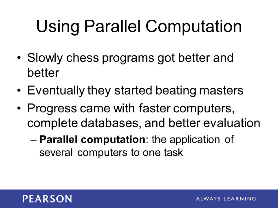 Using Parallel Computation