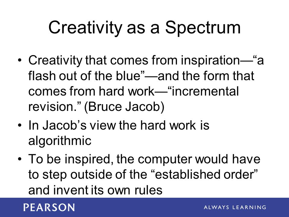 Creativity as a Spectrum