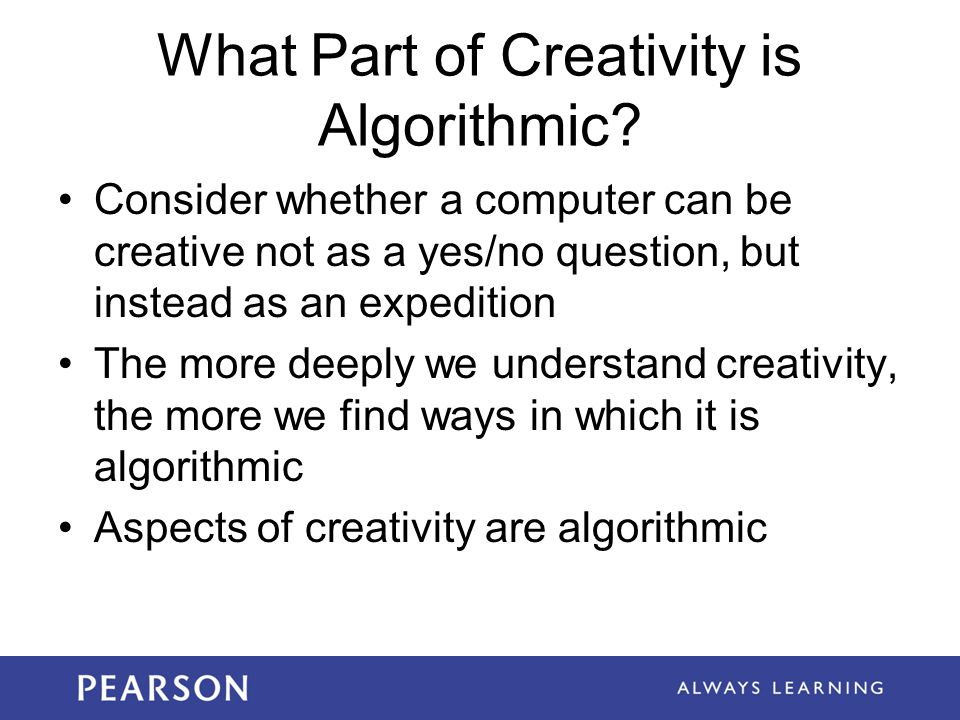 What Part of Creativity is Algorithmic