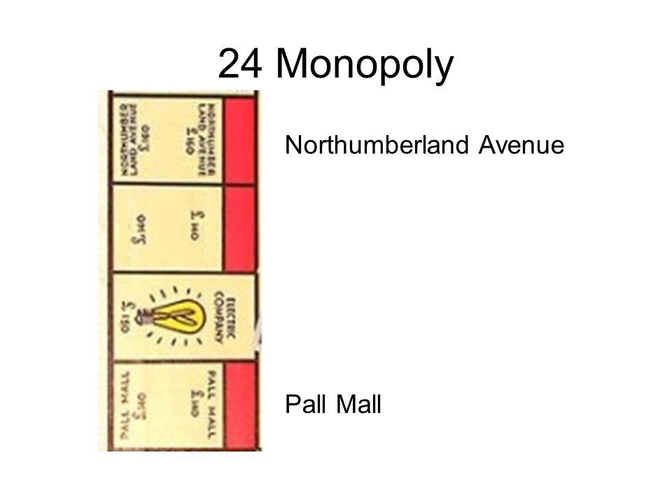 24 Monopoly Northumberland Avenue Pall Mall