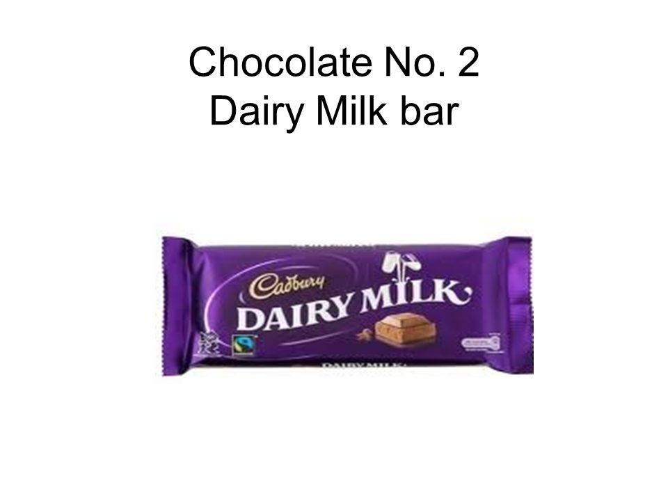 Chocolate No. 2 Dairy Milk bar