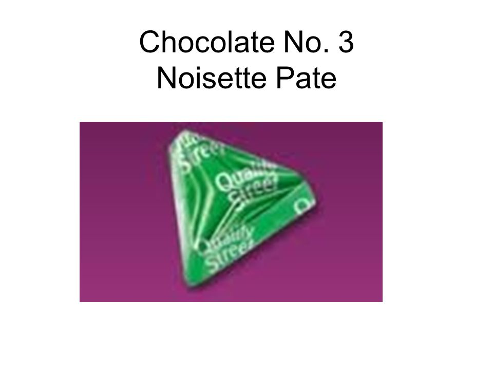 Chocolate No. 3 Noisette Pate