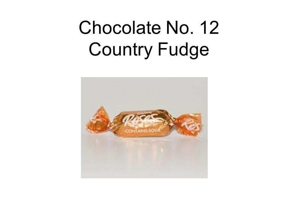 Chocolate No. 12 Country Fudge