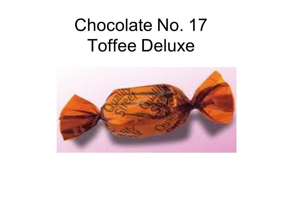 Chocolate No. 17 Toffee Deluxe