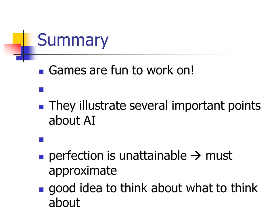 Summary Games are fun to work on!