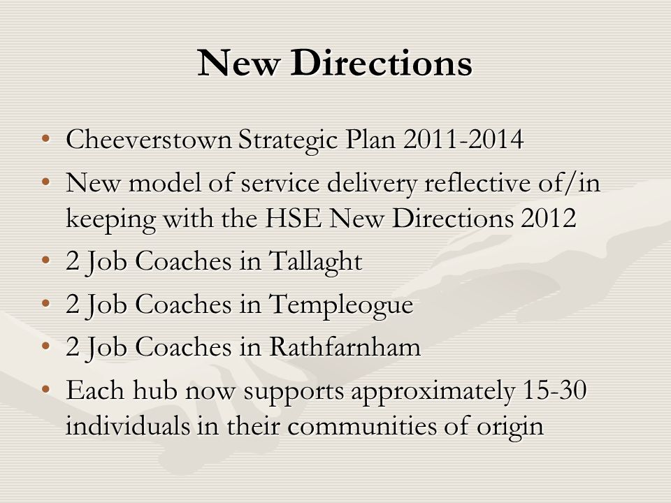 New Directions Cheeverstown Strategic Plan 2011-2014