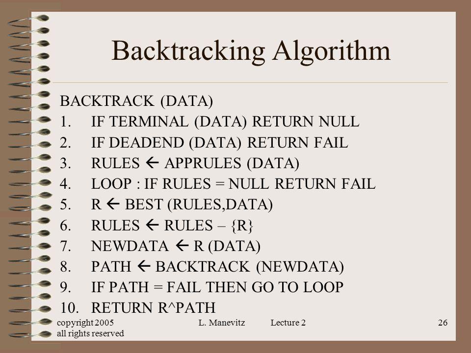 Backtracking Algorithm