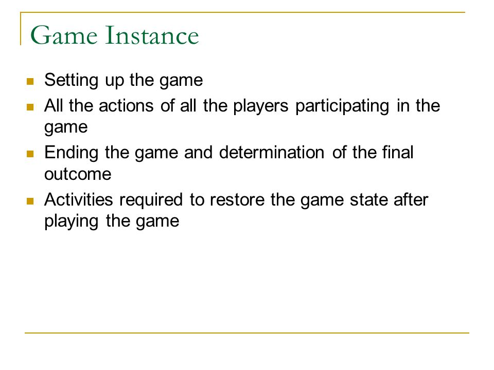Game Instance Setting up the game