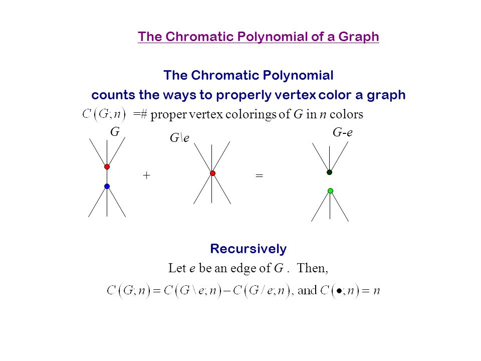 The Chromatic Polynomial of a Graph