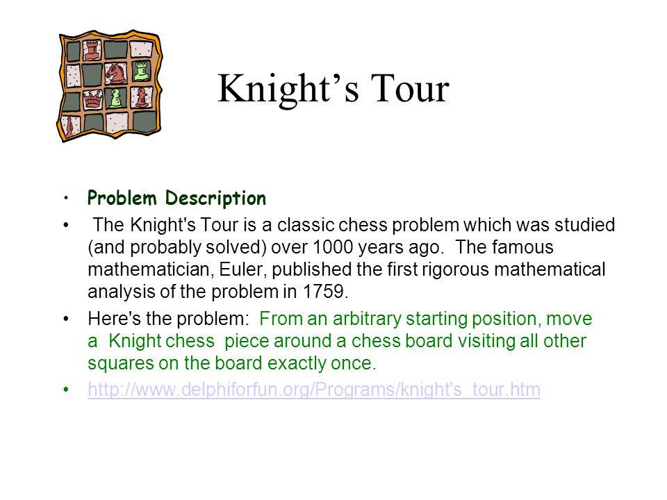Knight's Tour Problem Description