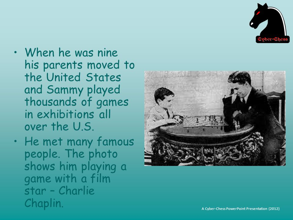 When he was nine his parents moved to the United States and Sammy played thousands of games in exhibitions all over the U.S.