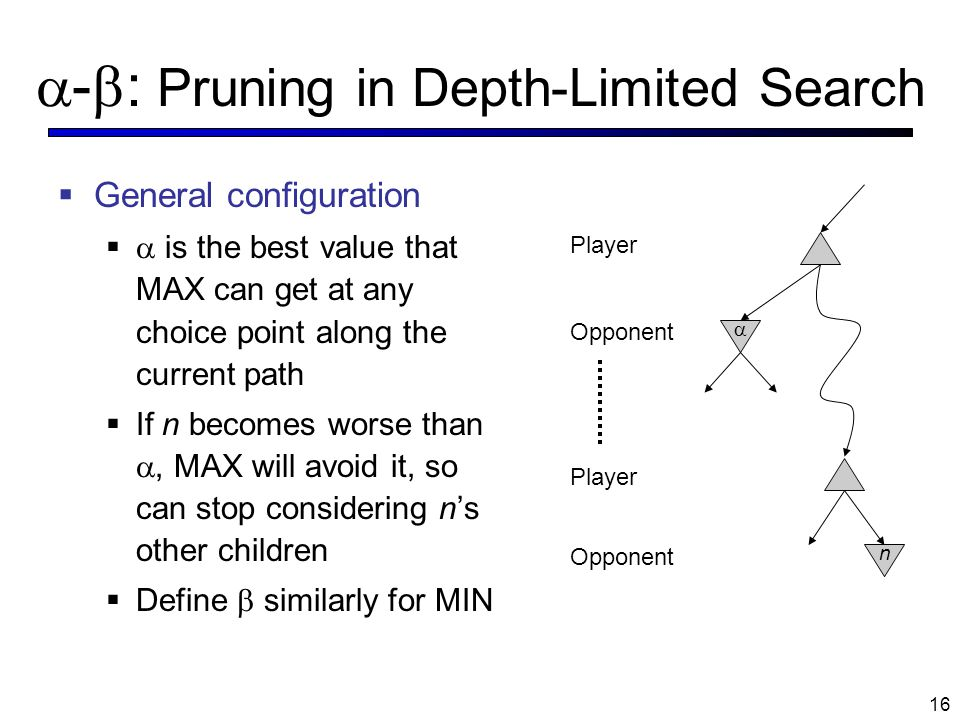 -: Pruning in Depth-Limited Search