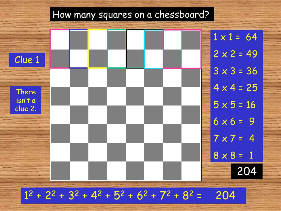 How many squares on a chessboard