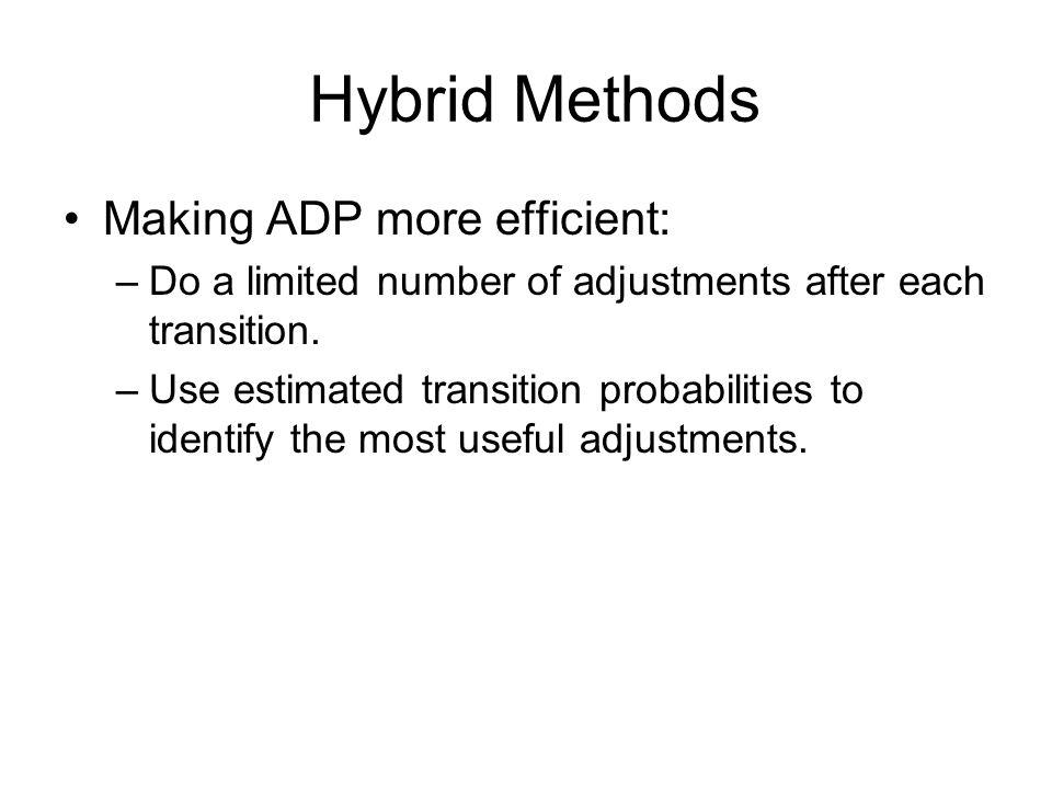 Hybrid Methods Making ADP more efficient: