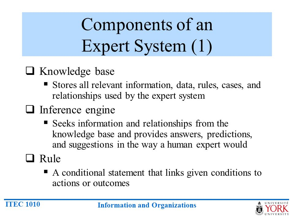 Components of an Expert System (1)