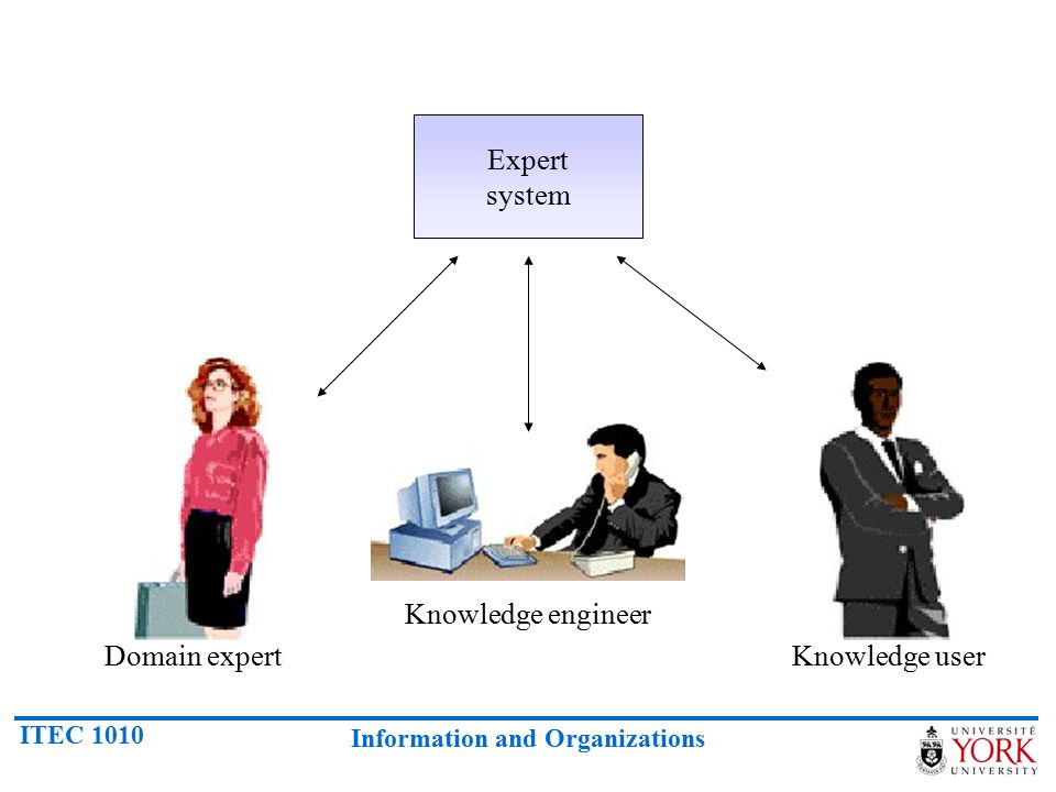 Expert system Knowledge engineer Domain expert Knowledge user