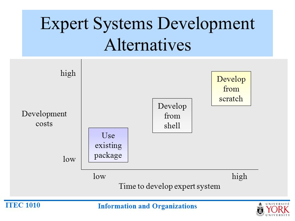 Expert Systems Development Alternatives