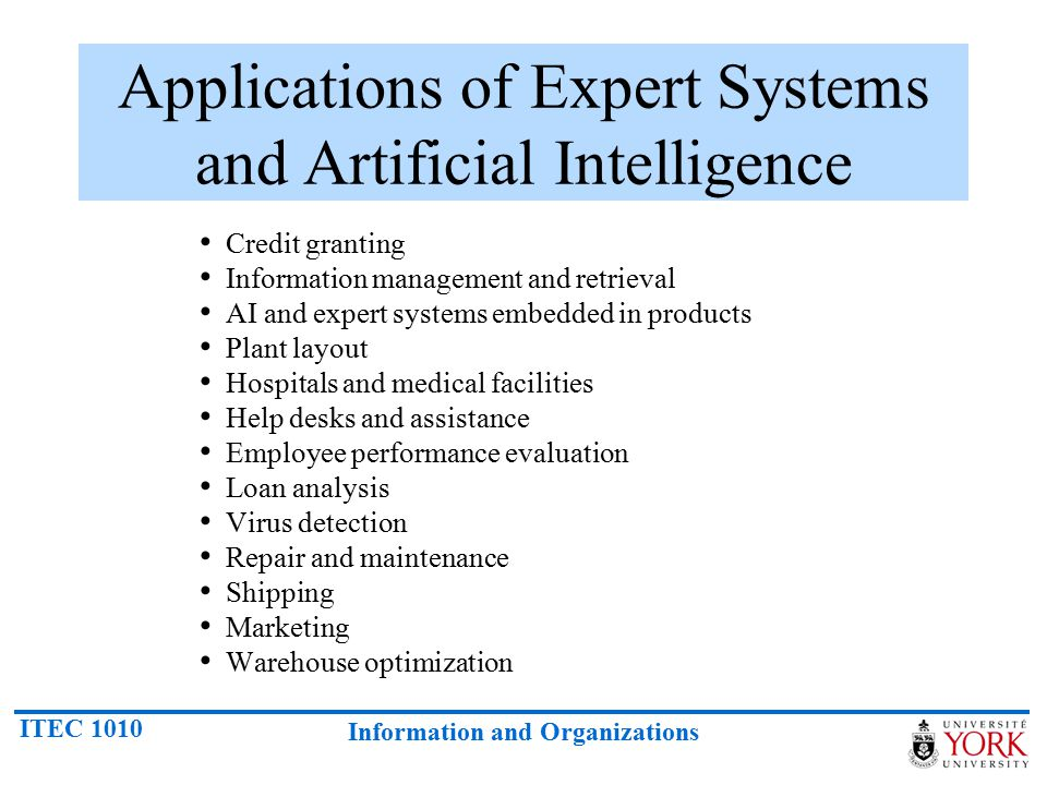 Applications of Expert Systems and Artificial Intelligence