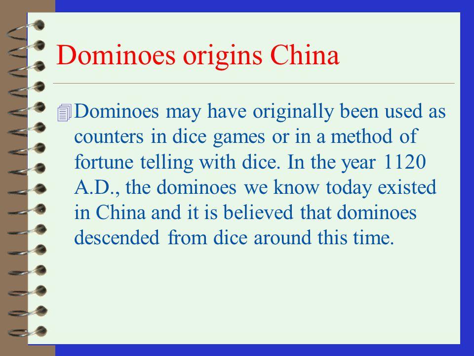 Dominoes origins China