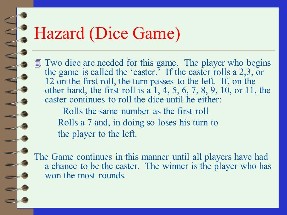 Hazard (Dice Game)