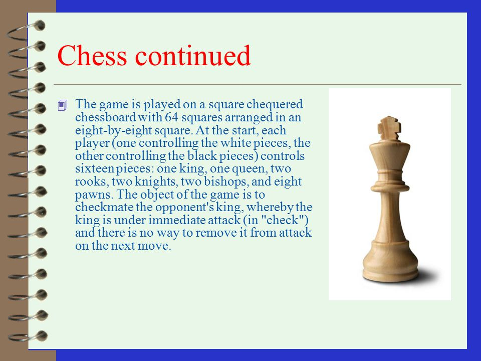 Chess continued