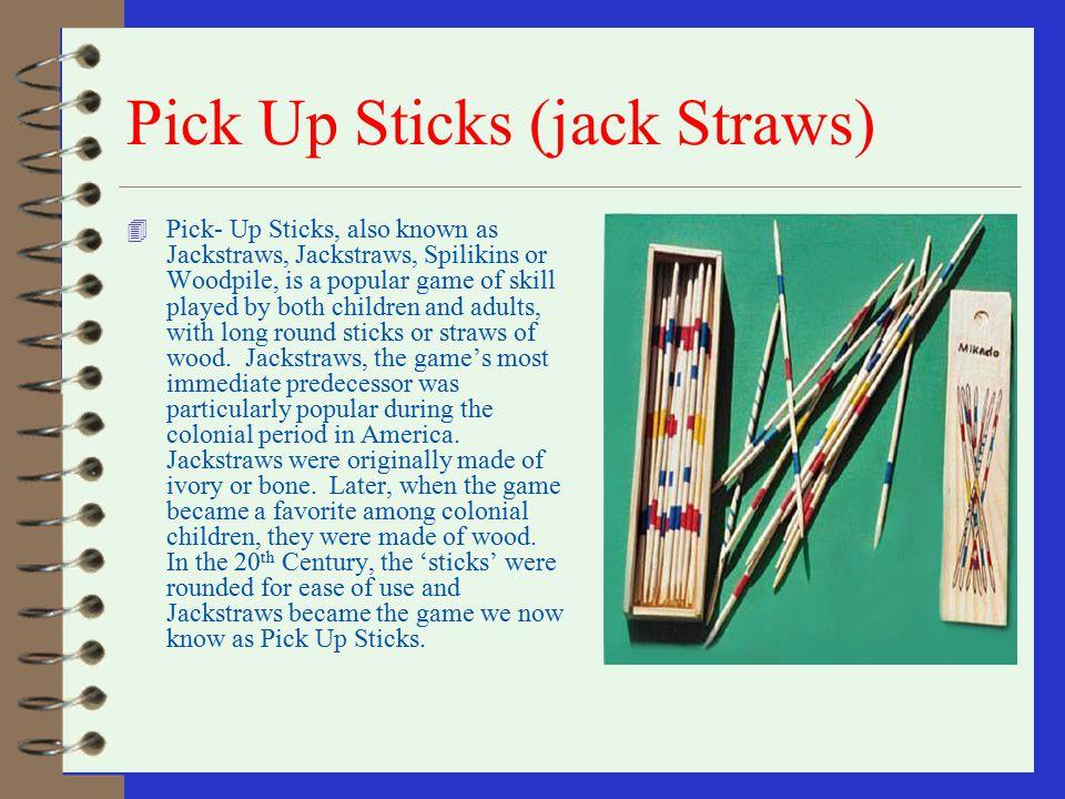 Pick Up Sticks (jack Straws)