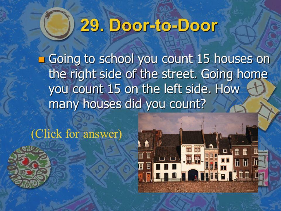 29. Door-to-Door