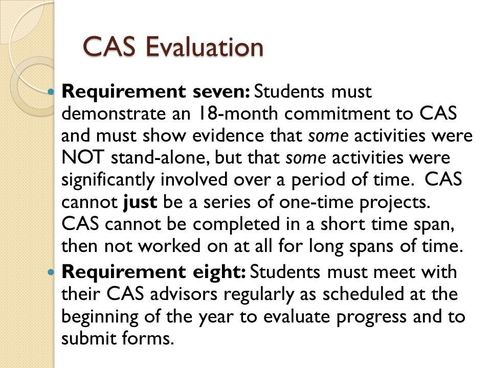 CAS Evaluation