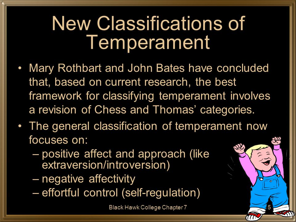 New Classifications of Temperament