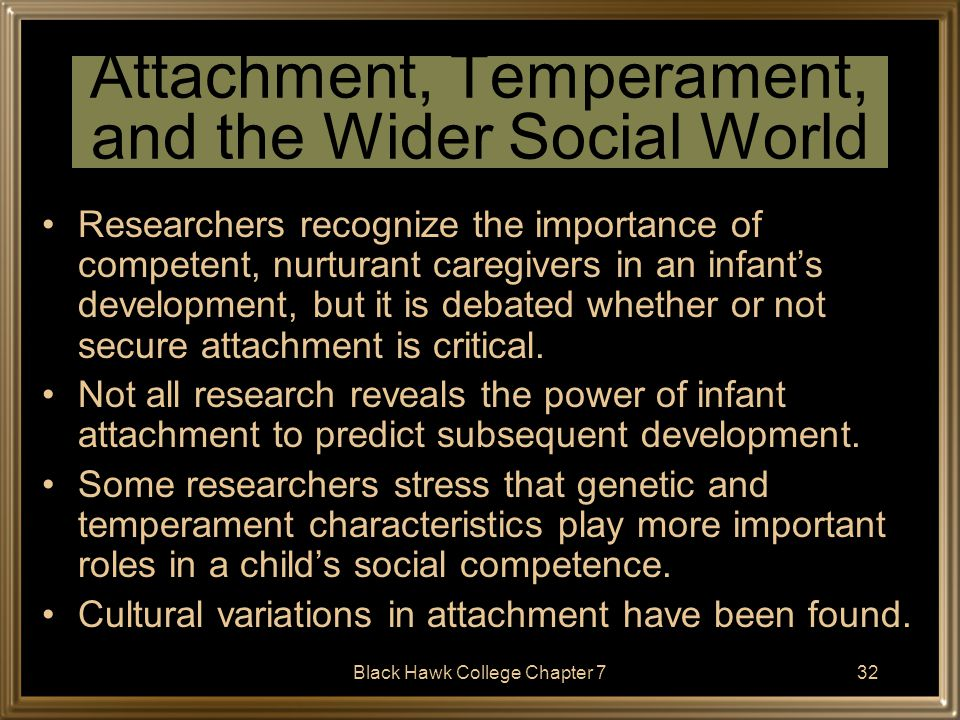 Attachment, Temperament, and the Wider Social World
