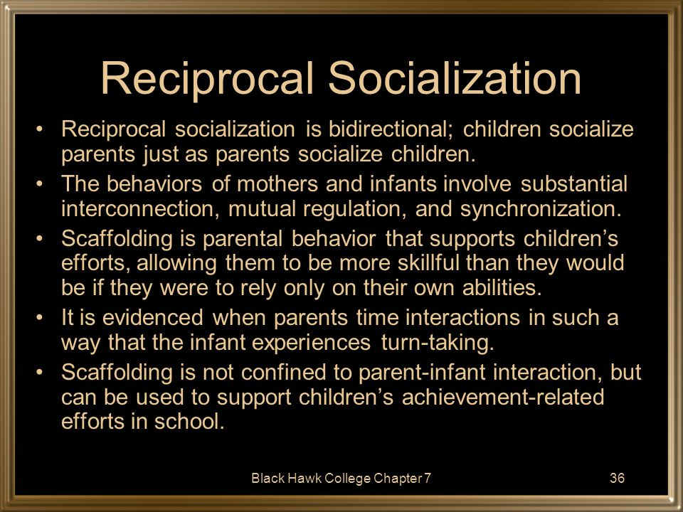 Reciprocal Socialization