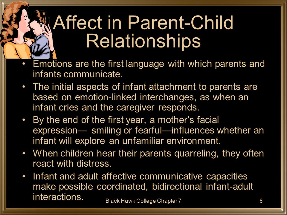 Affect in Parent-Child Relationships