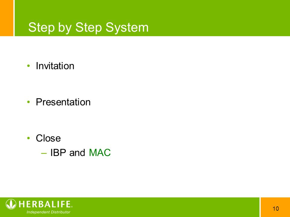 Step by Step System Invitation Presentation Close IBP and MAC