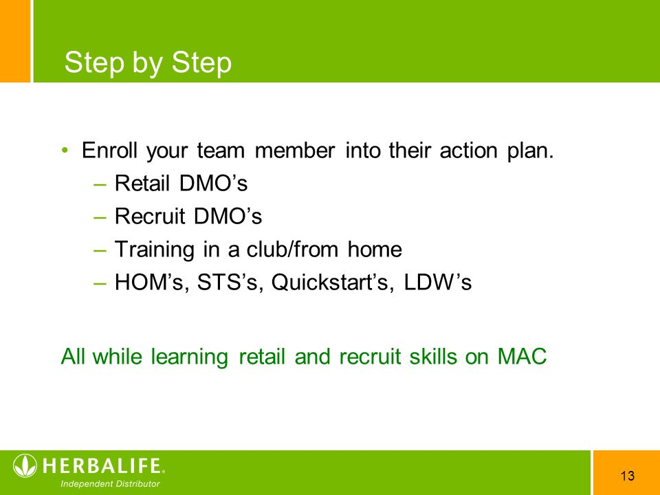 Step by Step Enroll your team member into their action plan.