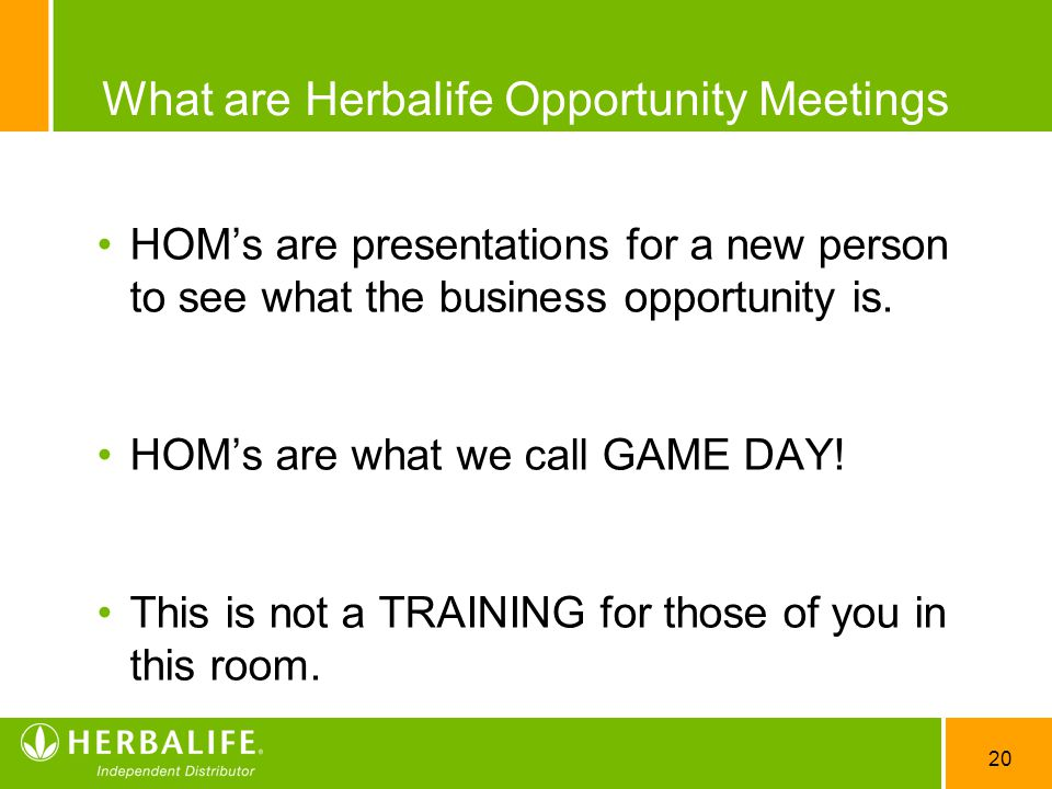 What are Herbalife Opportunity Meetings
