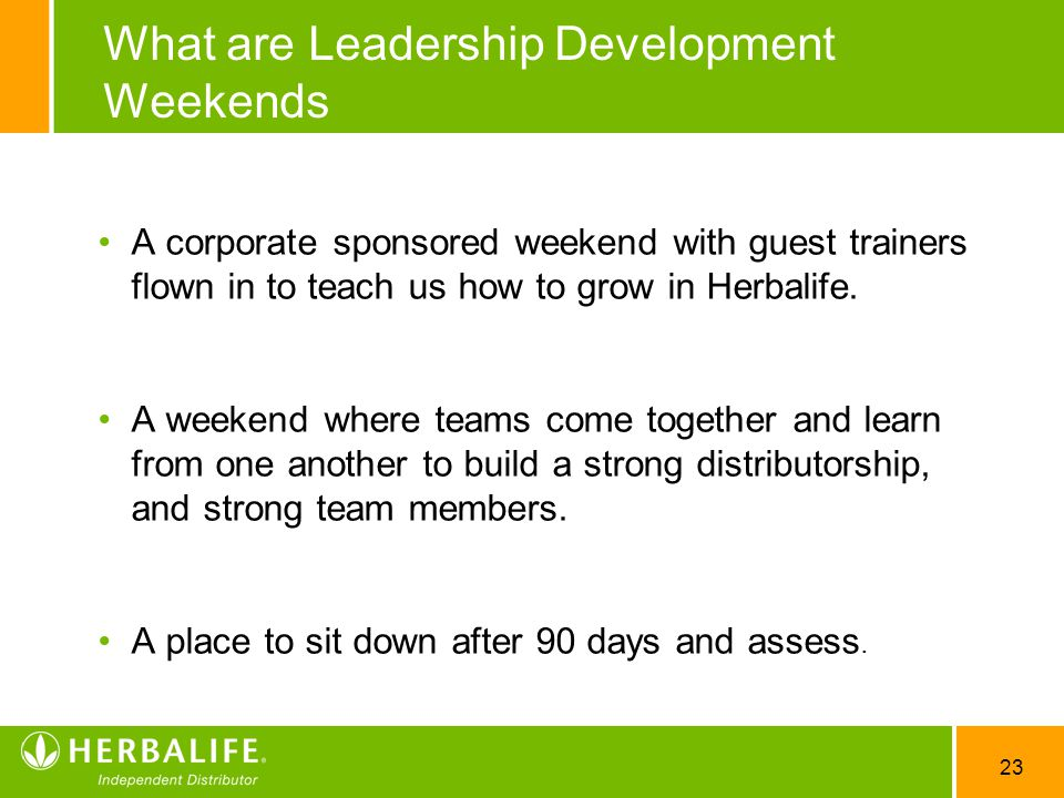 What are Leadership Development Weekends