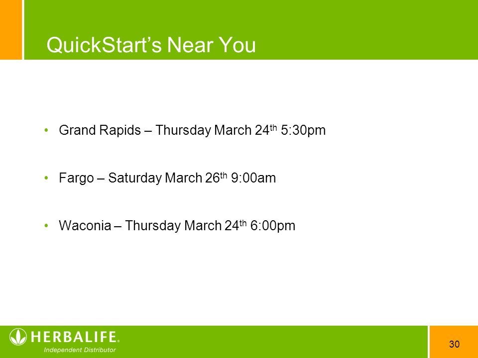 QuickStart's Near You Grand Rapids – Thursday March 24th 5:30pm