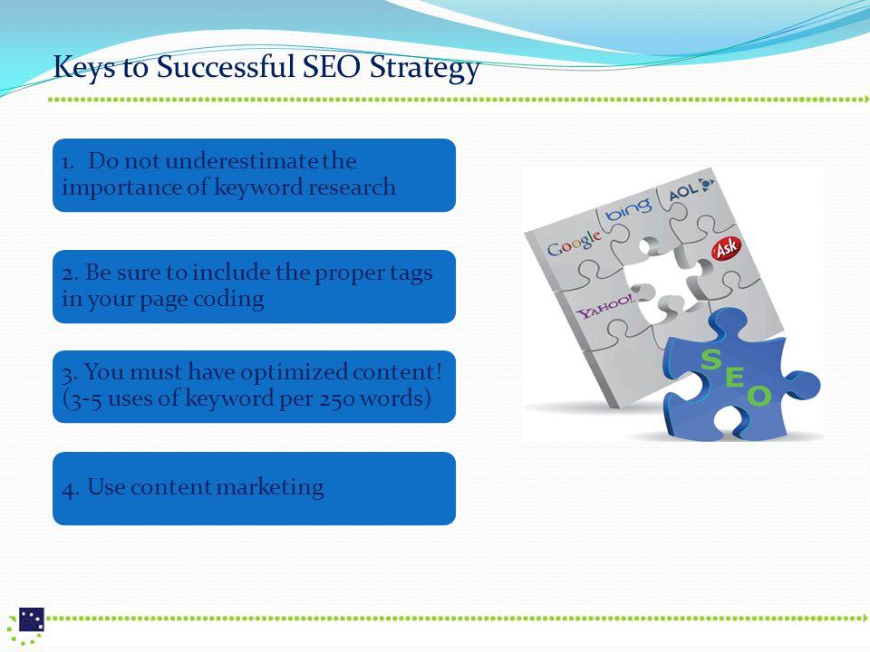 Keys to Successful SEO Strategy