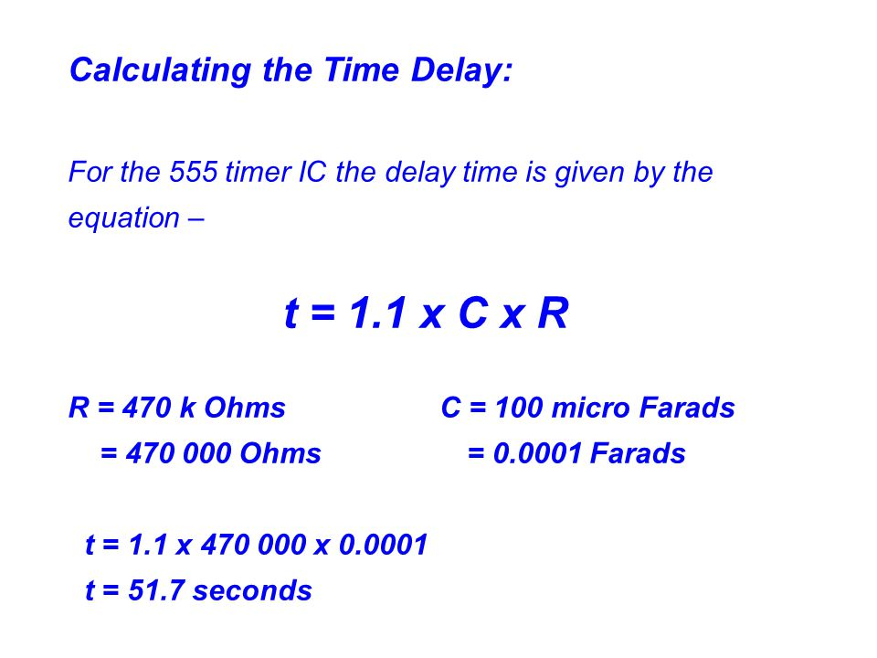 Calculating the Time Delay: