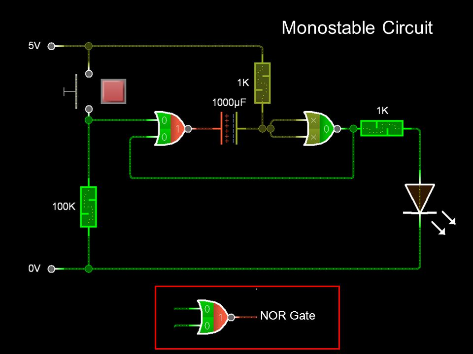 Monostable Circuit NOR Gate