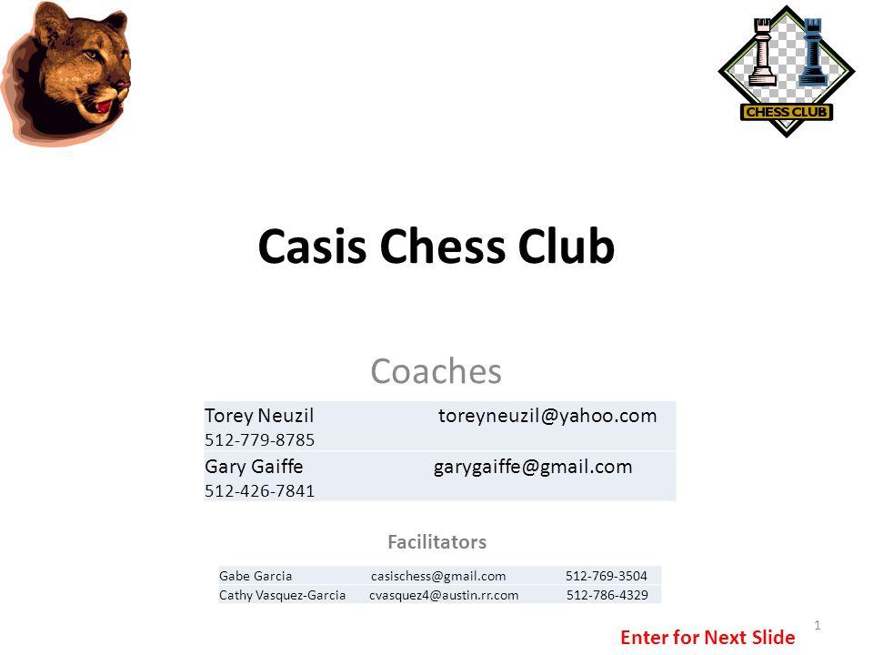 Casis Chess Club Coaches