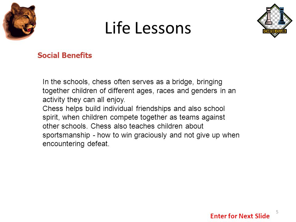 Life Lessons Social Benefits