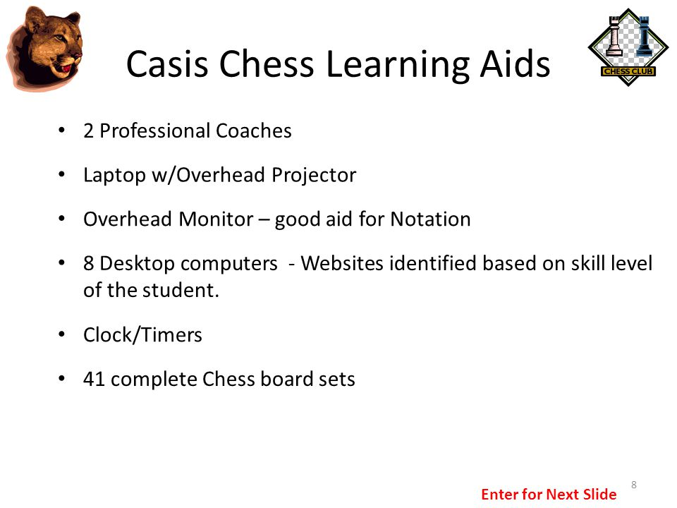 Casis Chess Learning Aids