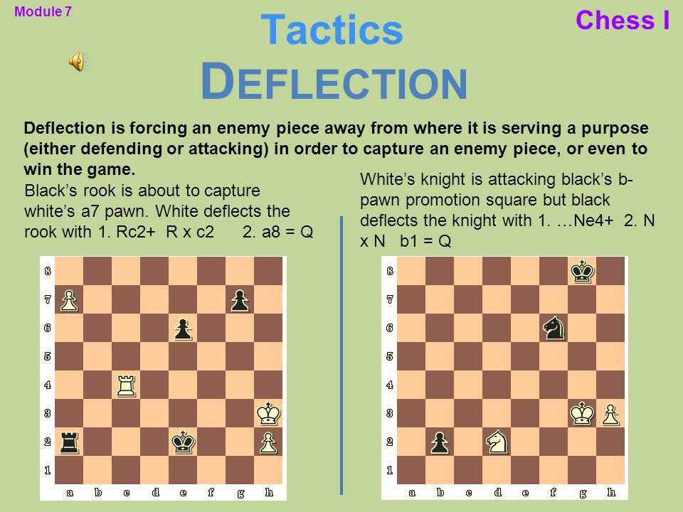 Deflection Tactics Chess I