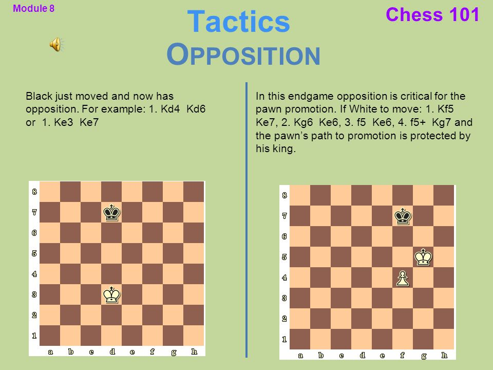 Tactics Opposition Chess 101