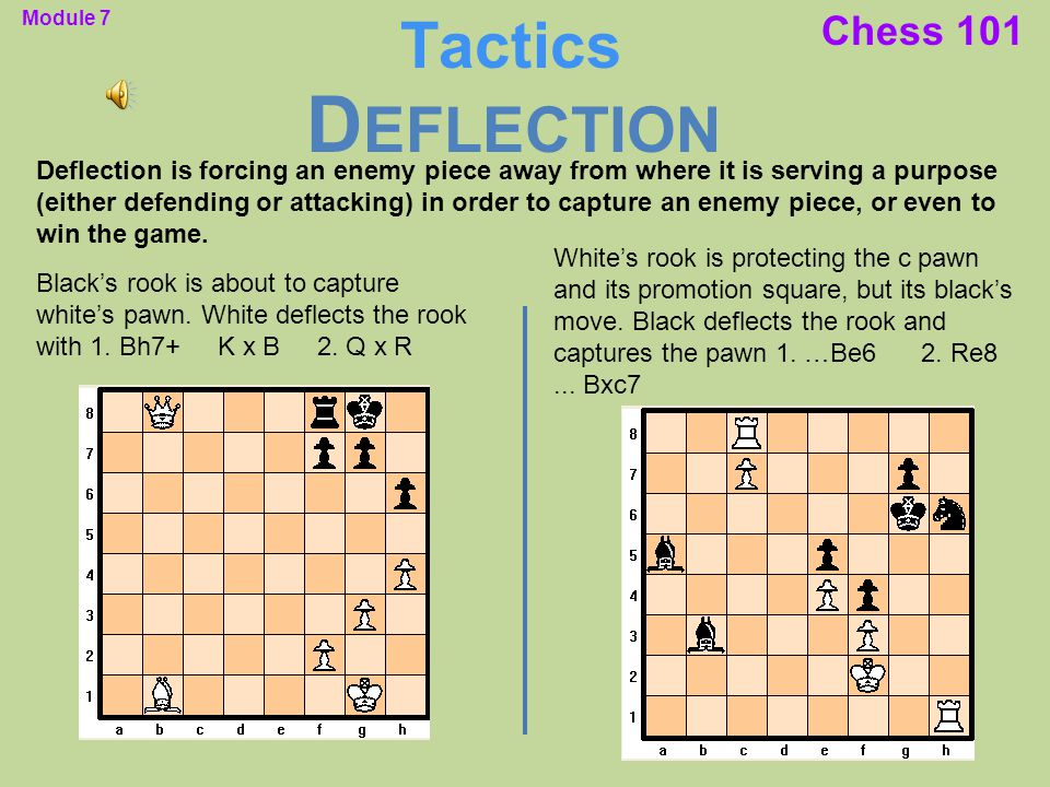 Deflection Tactics Chess 101