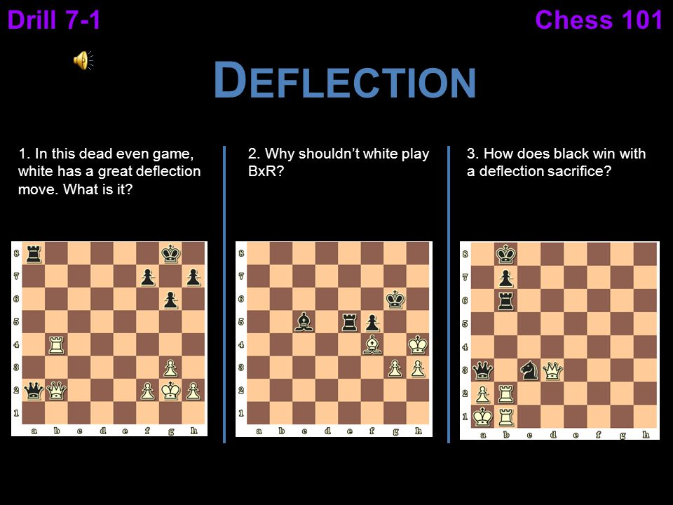 Deflection Drill 7-1 Chess 101