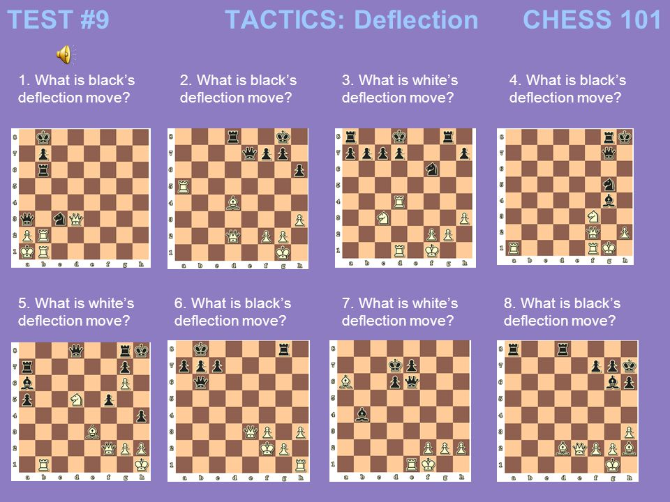 TEST #9 TACTICS: Deflection CHESS 101