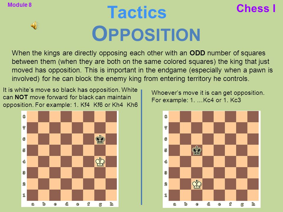Opposition Tactics Chess I